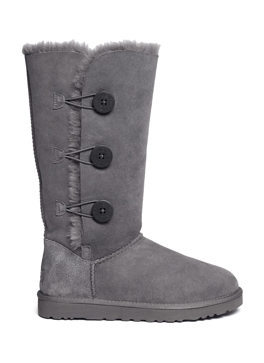 ugg tall grey button