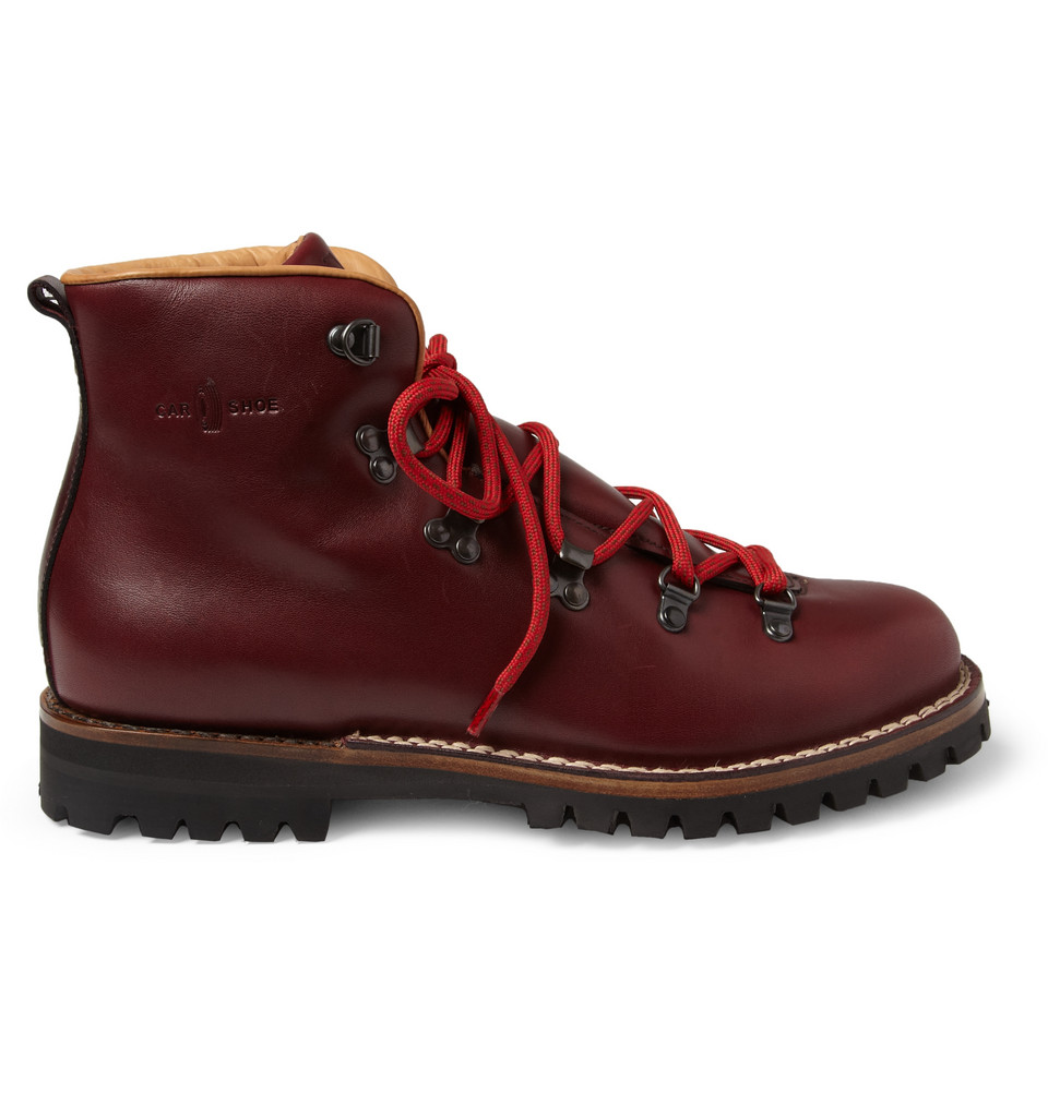 Lyst Car Shoe Leather Hiking Boots In Purple For Men