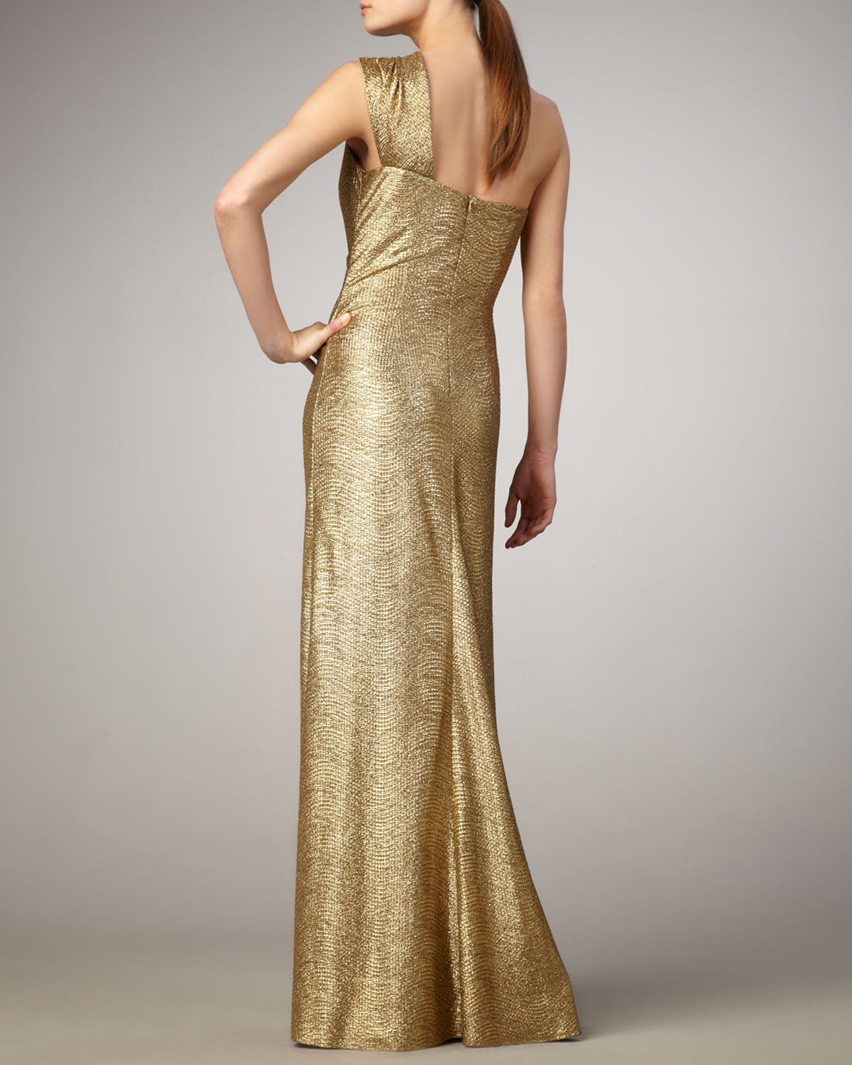 David Meister Gold Gown – fashion dresses