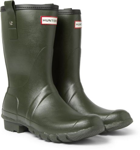 Hunter Short Wellington Boots In Green For Men Lyst