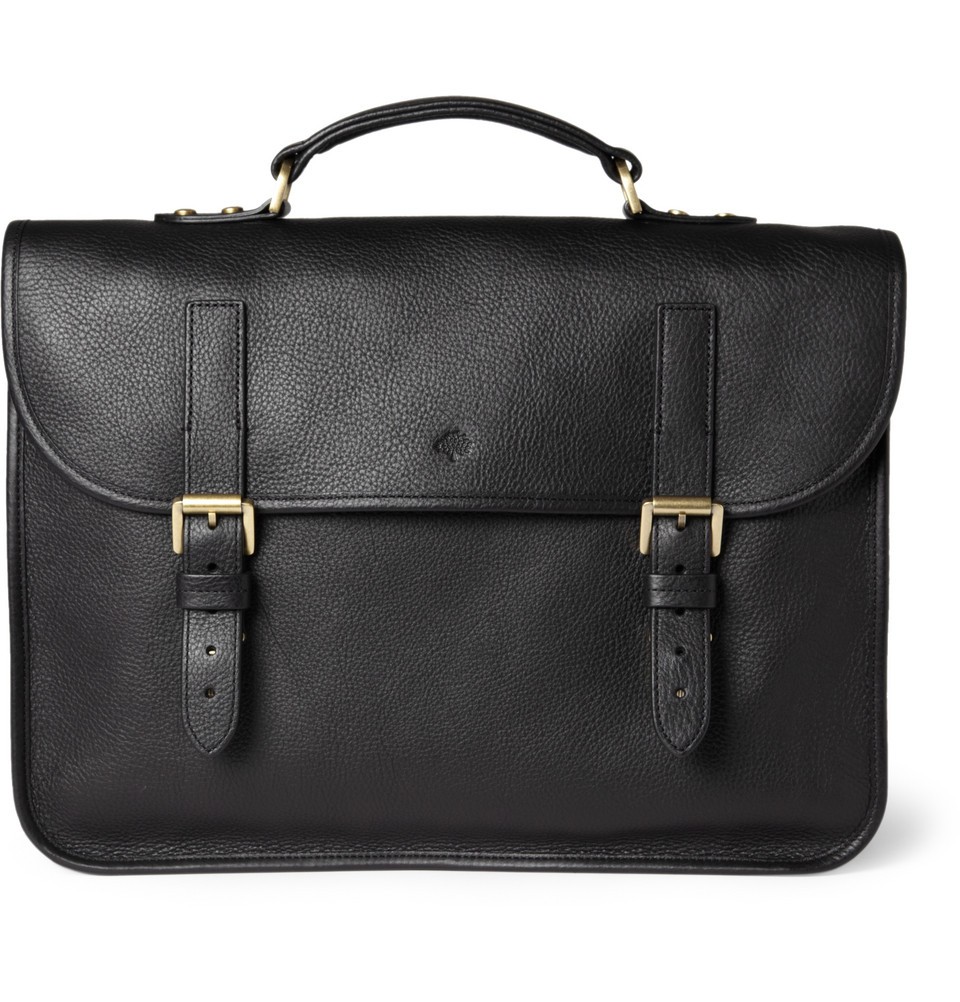 ac0a3ec8f7 best price mulberry grained leather billfold wallet 51146 96f08  hot lyst  mulberry elkington leather briefcase in black for men 8cf60 b8ff5