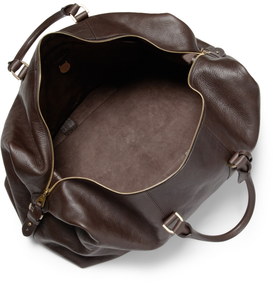 a8a7ed57d0dc Lyst - Mulberry Clipper Leather Holdall Bag in Brown for Men