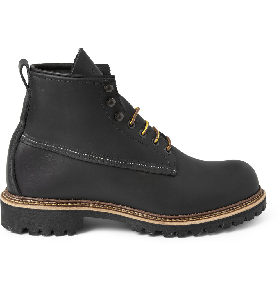 Red Wing Ice Cutter Leather Boots In Black For Men Lyst