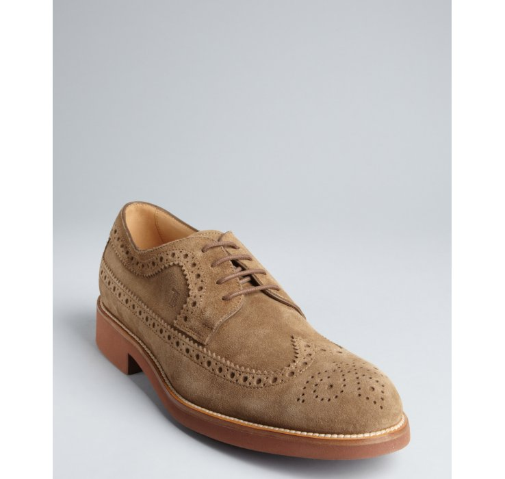Tod's Suede Brogue Oxfords the best store to get fashionable online best store to get cheap price hTZDdQfER