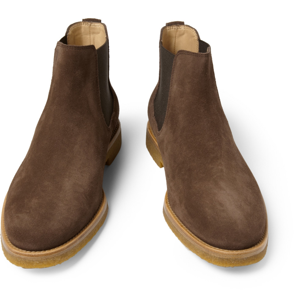 Tod S Crepesole Suede Chelsea Boots In Brown For Men Lyst