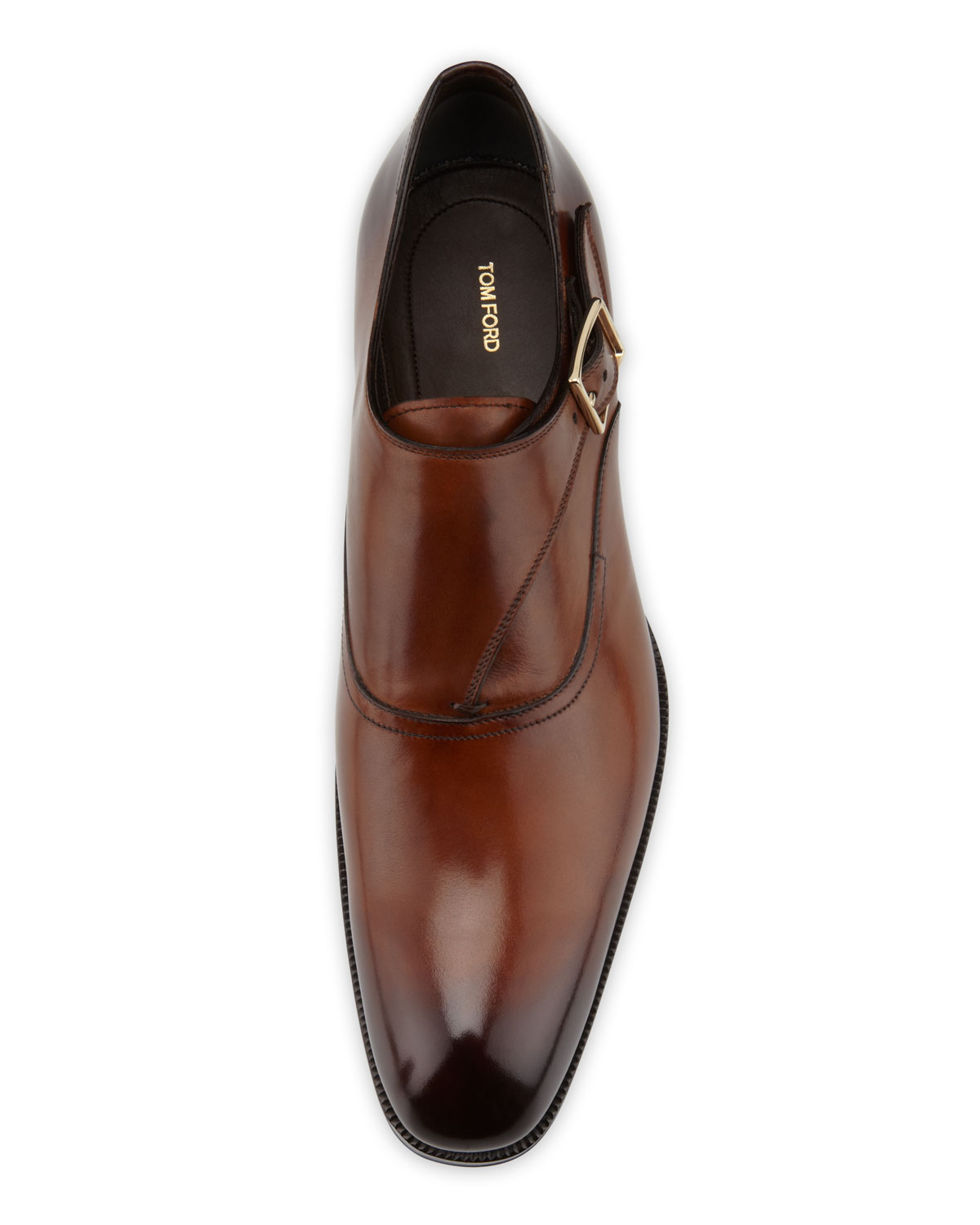 Single-Monk Strap perforated brown Tom Ford UUypuFr