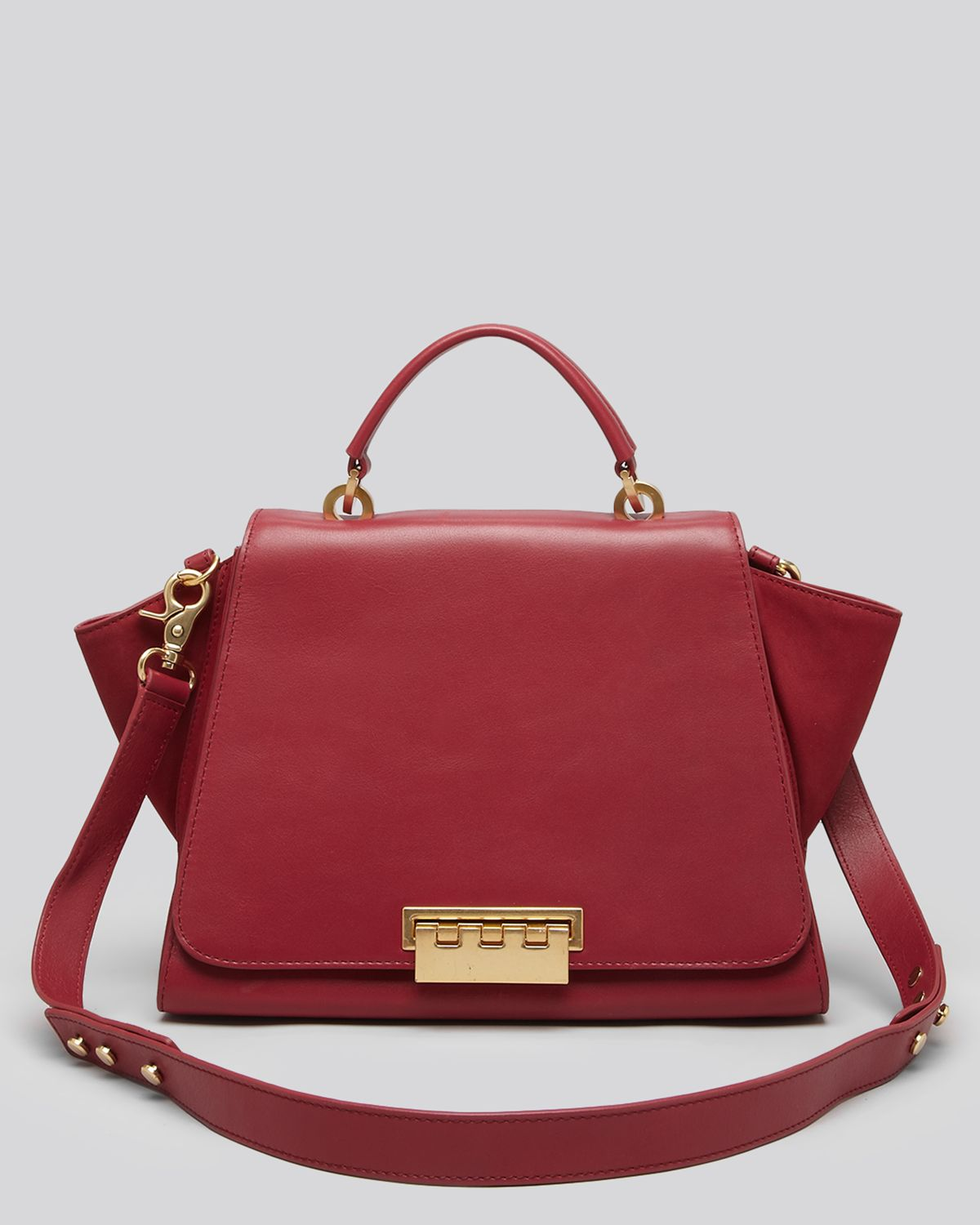 Zac Zac Posen Satchel Eartha Soft Top Handle In Red