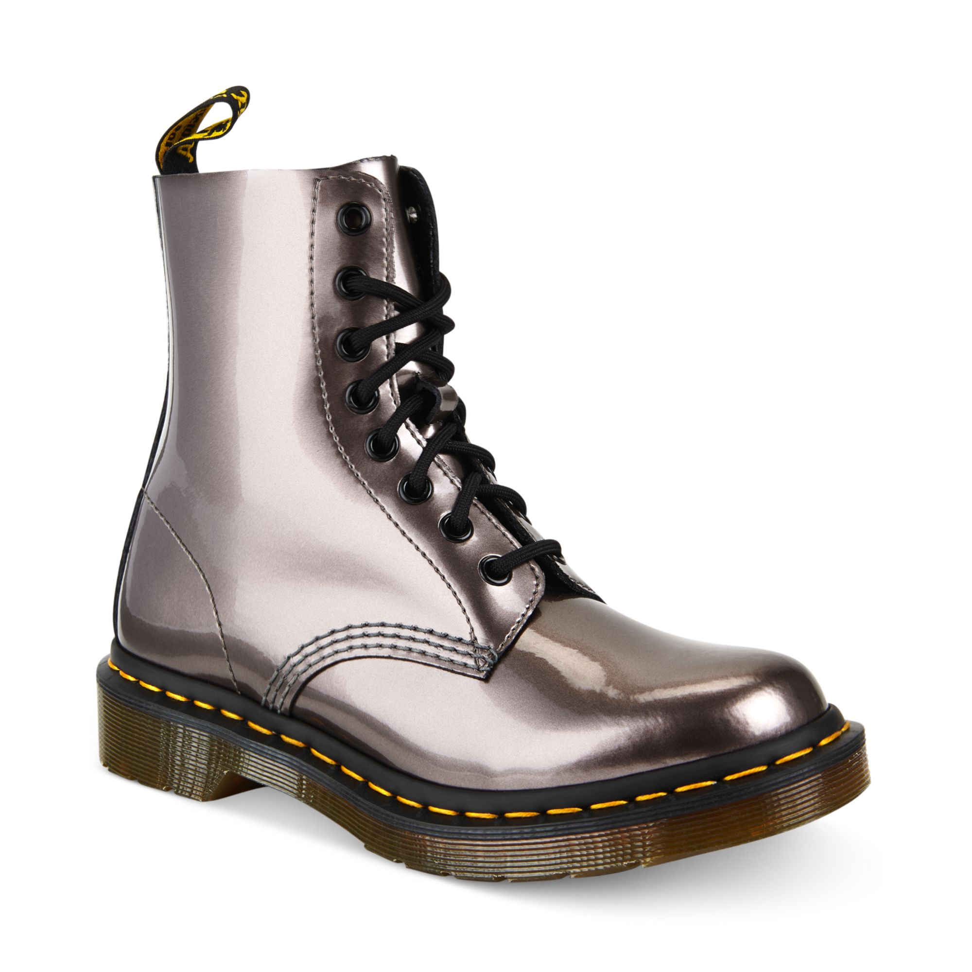 deb73c129cc28 Dr. Martens Ankle Boots in Metallic - Lyst