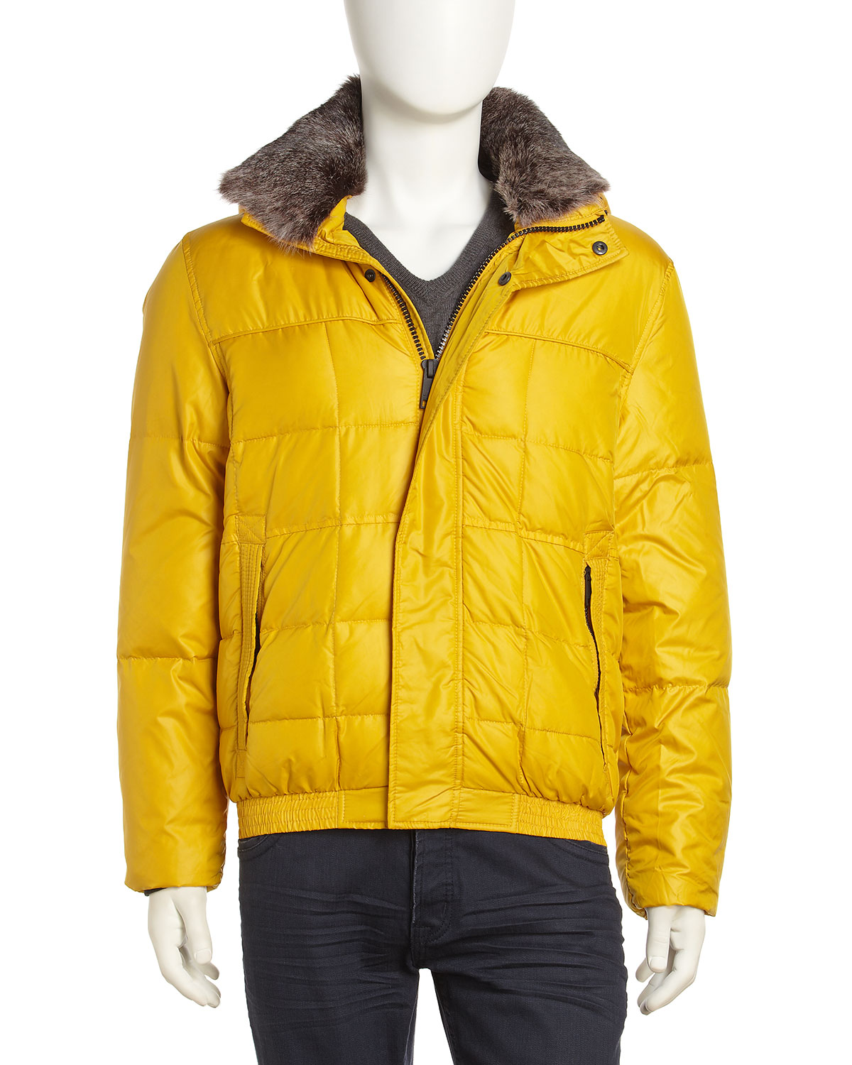 Marc New York By Andrew Marc Nylon Puffer Down Jacket with ...