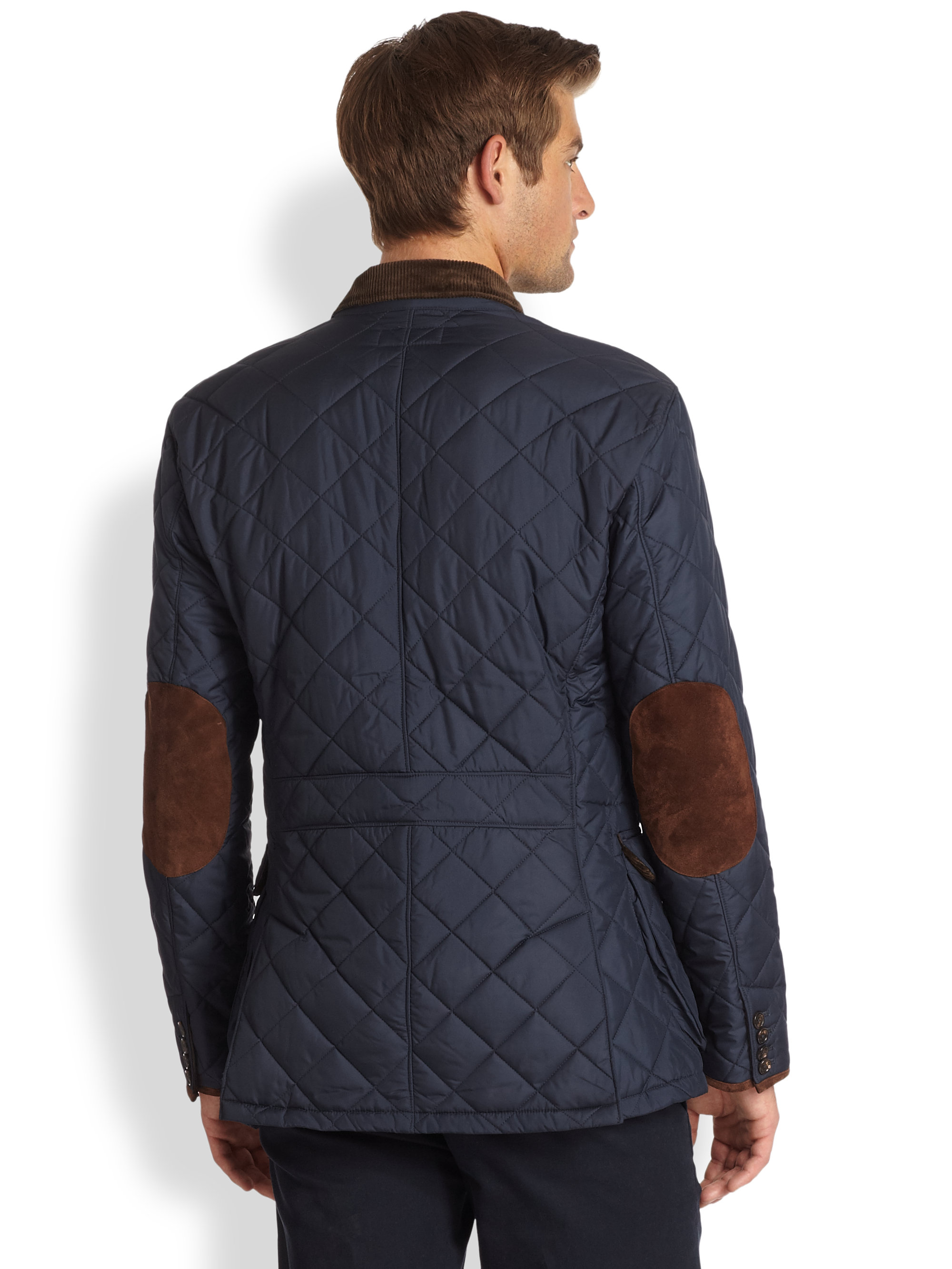 Lyst Polo Ralph Lauren Quilted Sportcoat In Blue For Men