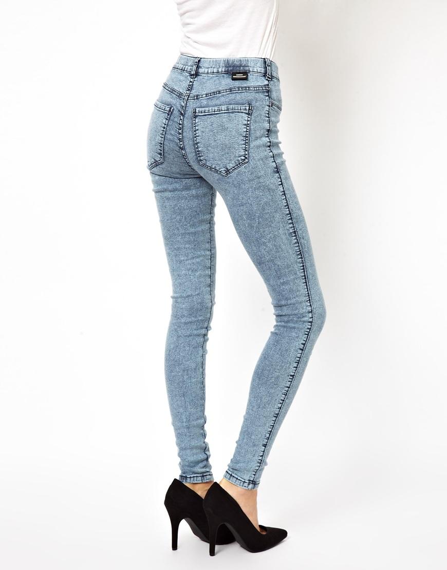 fashion discount shop choose authentic Dr. Denim Stonewash Plenty High Waist Jeggings in Blue - Lyst
