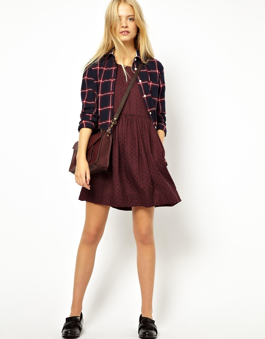 Jack wills Short Sleeved Dress in Red - Lyst