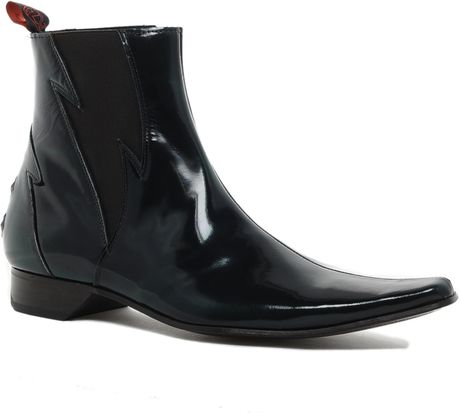 jeffery west lightning chelsea boots in black for