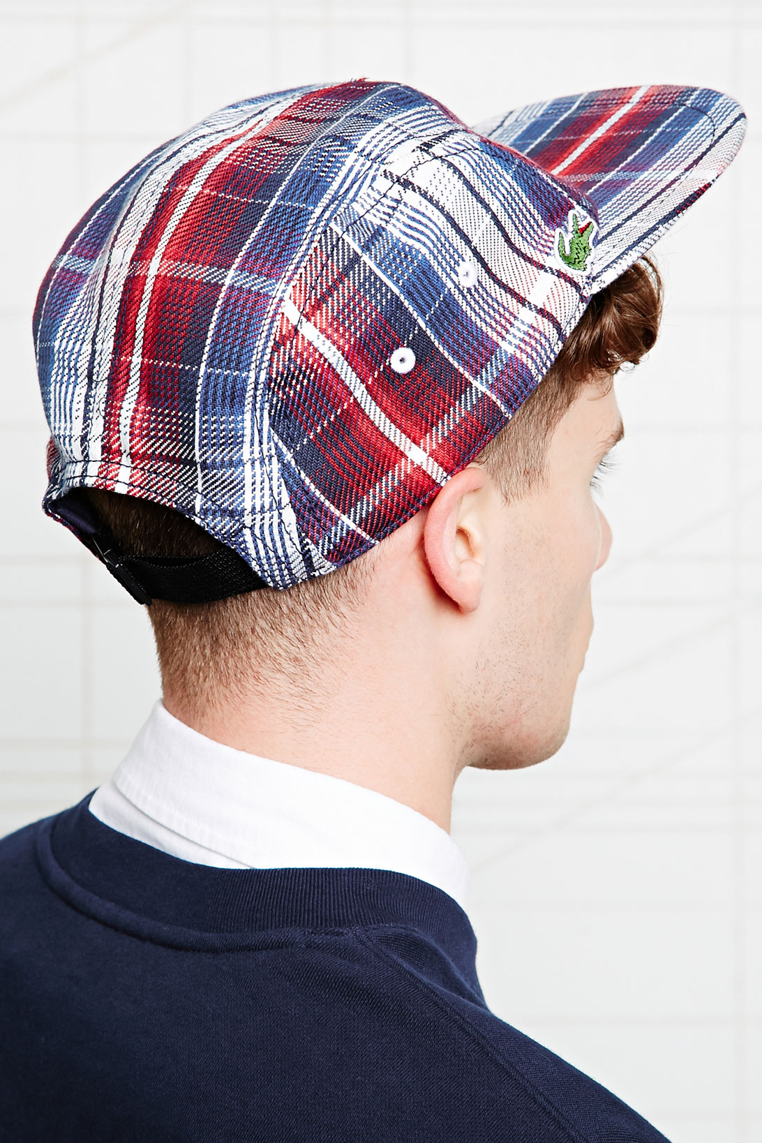 Lacoste Lacoste 5 Panel Cap in Check Print in Blue for Men - Lyst cf2f5b017ae