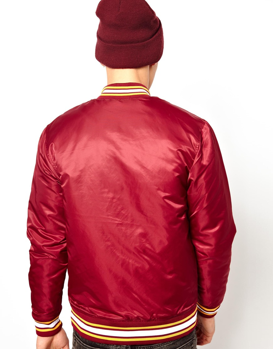 Patagonia Majestic Washington Red Skins Satin Baseball Jacket in ...