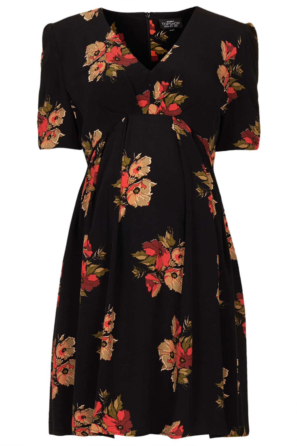 bf6baed72f2f2 TOPSHOP Maternity Autumn Floral Tea Dress in Black - Lyst