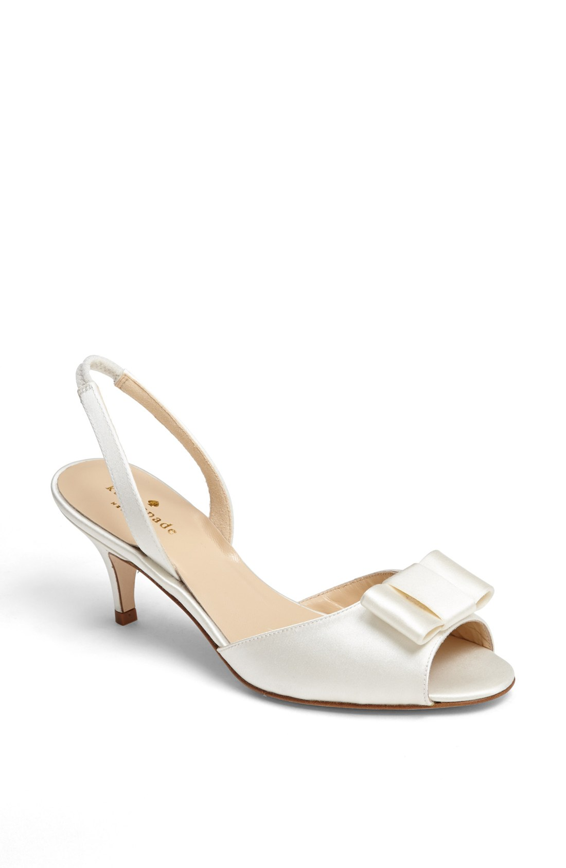 Ivory Satin Slingback Wedding Shoes