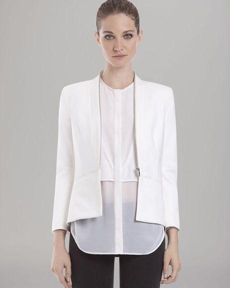 Sandro Blazer Zip Front in White