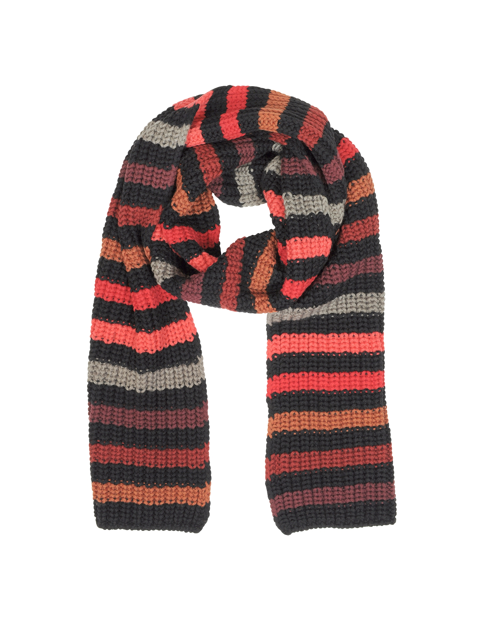 4f662f338a Lyst - Sonia Rykiel Mesh Striped Wool Long Scarf in Black