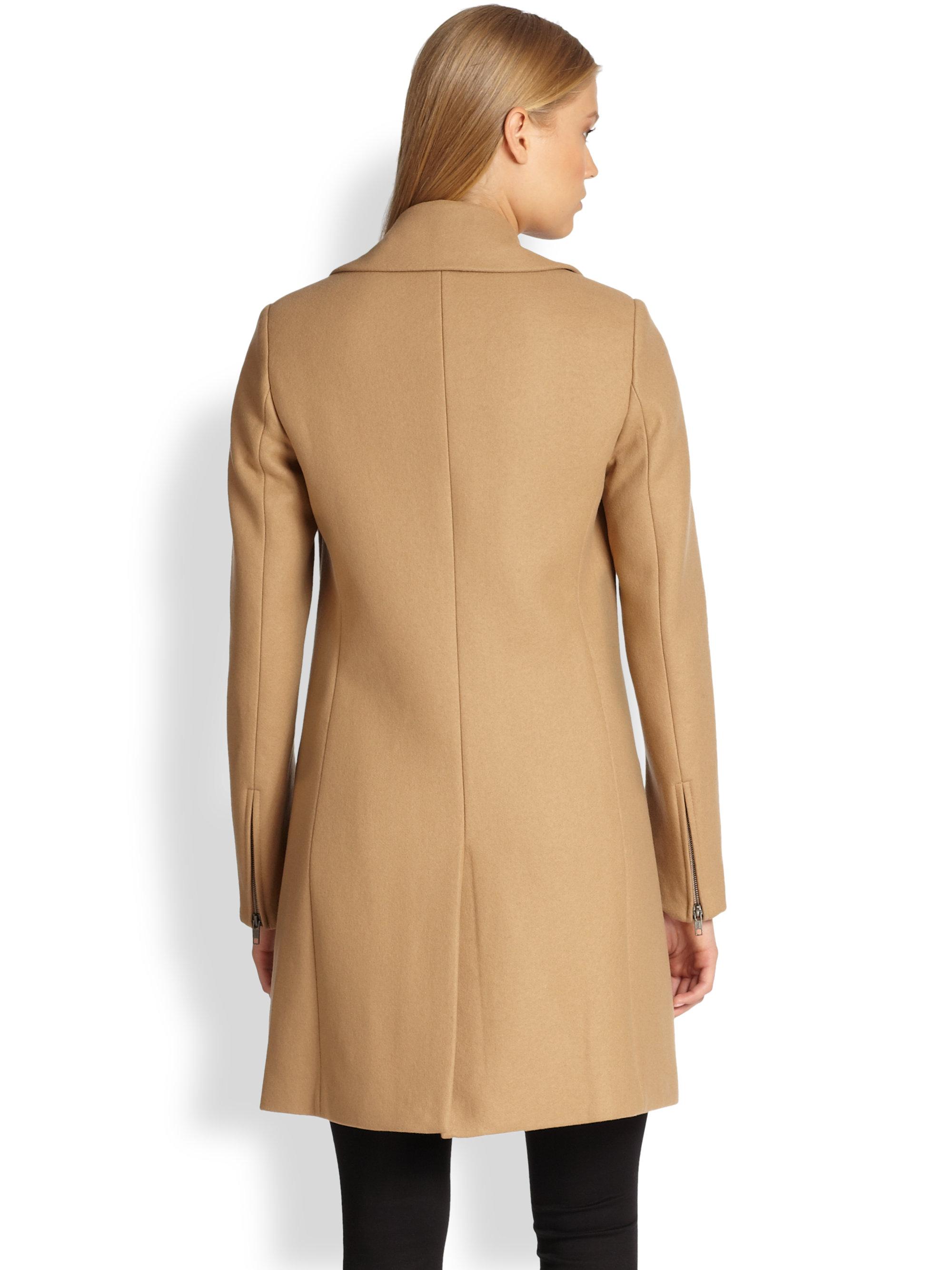 Theory Gazella Car Coat in Brown | Lyst