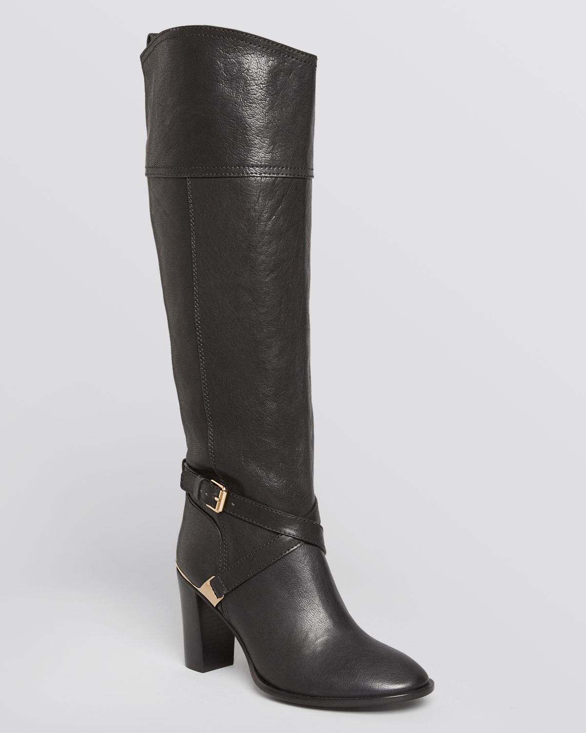 Tory burch Riding Boots Livingston High Heel in Black | Lyst