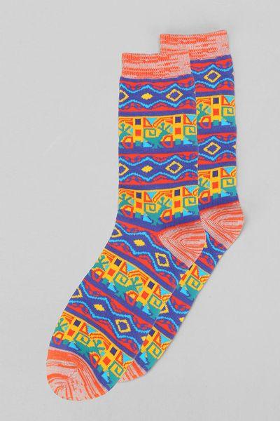 Urban Outfitters Geo Pattern Socks in Multicolor  YELLOW Urban Outfitters Pattern