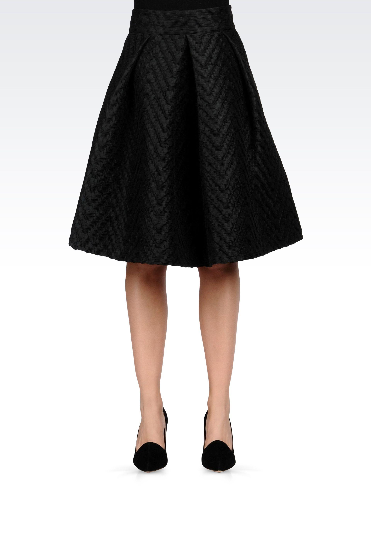 Knee Length Black Skirt - Redskirtz