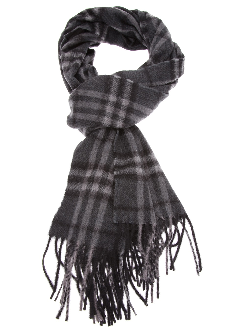 Burberry brit Classic Check Scarf in Gray for Men | Lyst