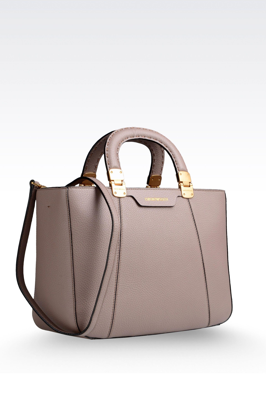Lyst Emporio Armani Calfskin Handbag With Detachable Shoulder fc4cc135cf75f