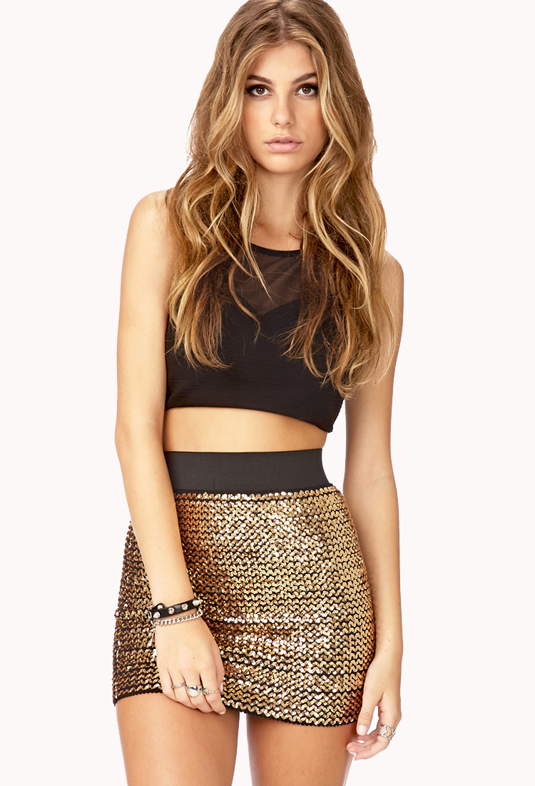 Forever 21 Dazzling Doll Mini Skirt You've Been Added To The ...