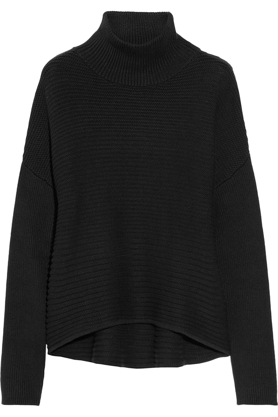 Helmut lang Cotton and Cashmereblend Turtleneck Sweater in Black ...