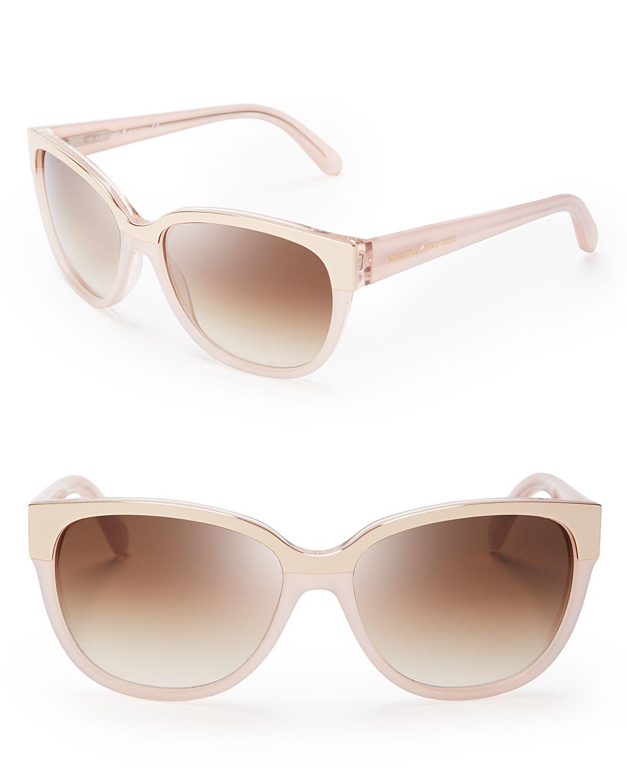 Kate Spade Brigit Wayfarer Sunglasses in Pink (Fluorescent ...