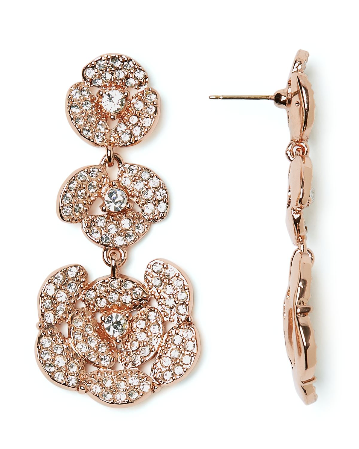 Kate spade new york Disco Pansy Chandelier Earrings in Pink | Lyst