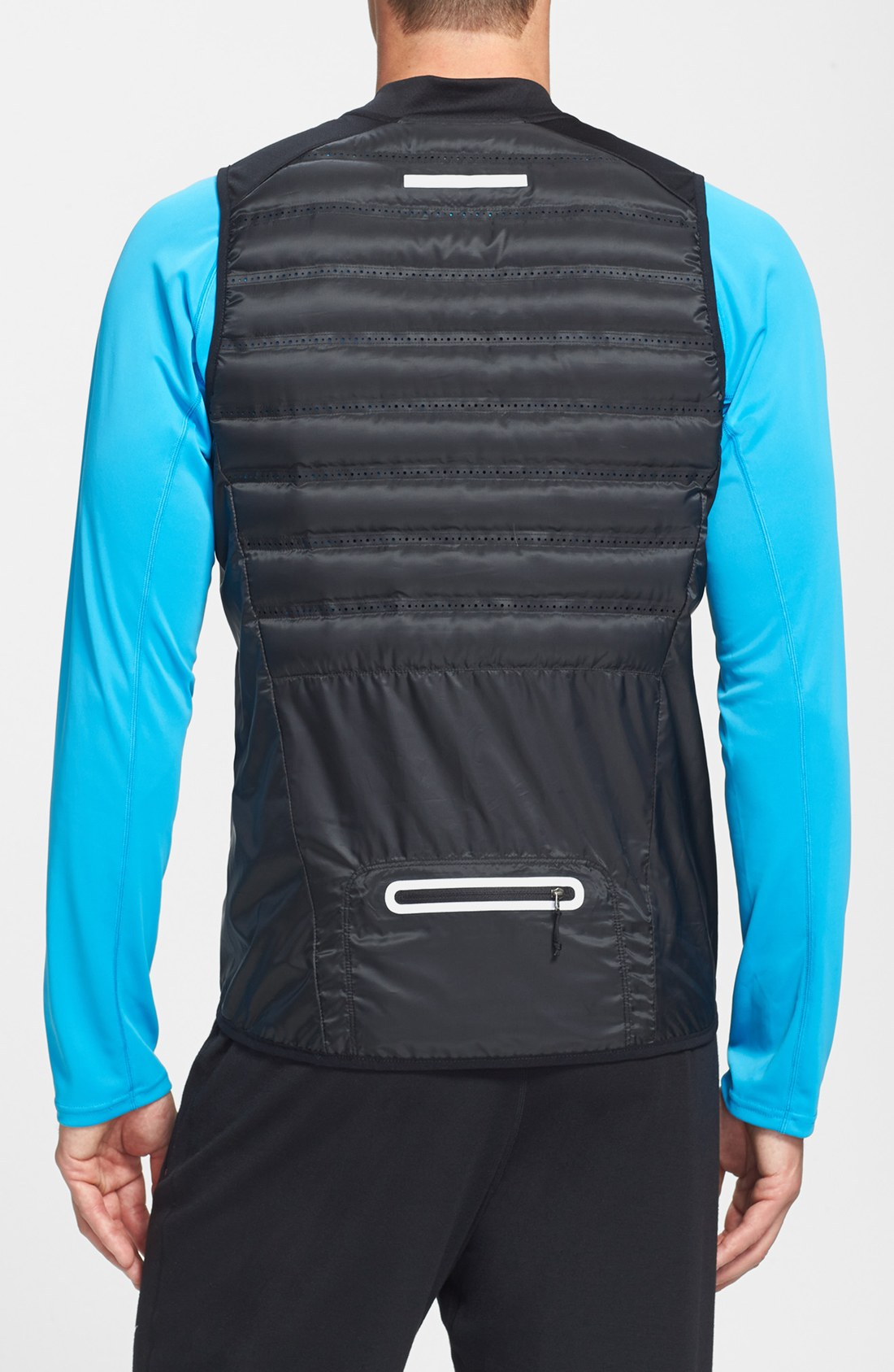 Nike Aeroloft Insulated Running Vest In Black For Men Lyst