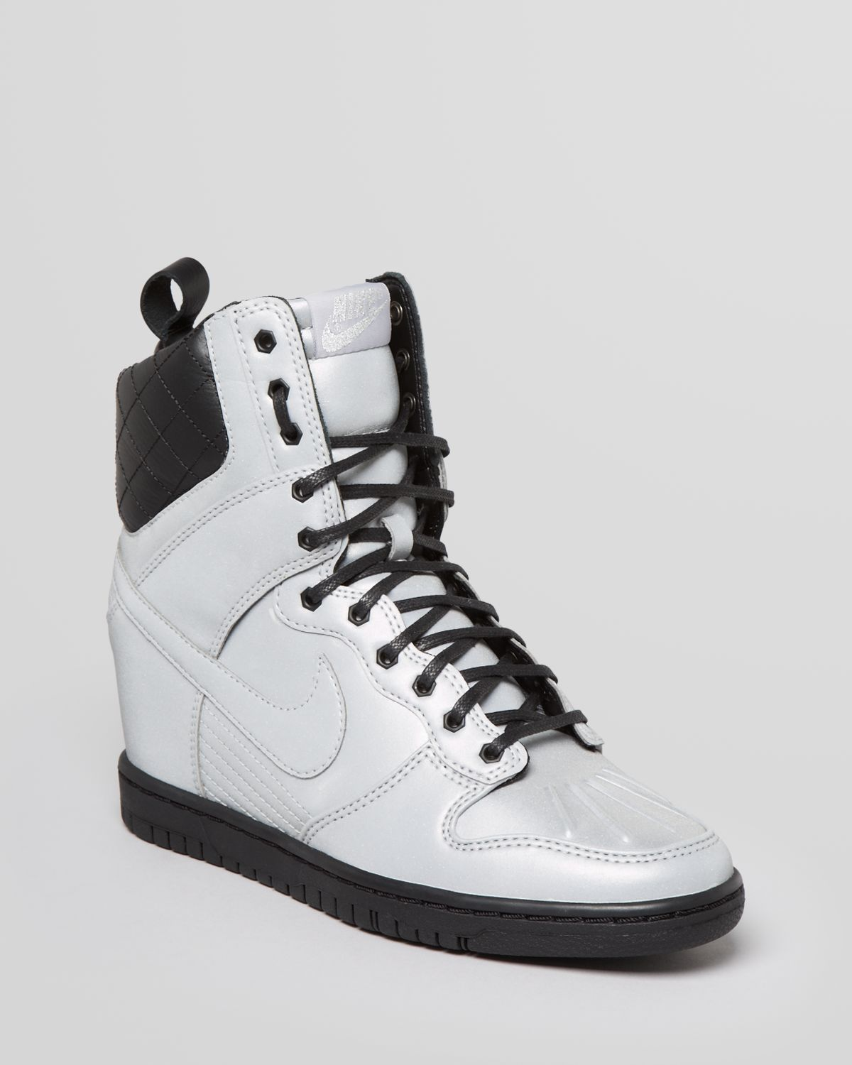 Nike Lace Up High Top Sneaker Wedges Womens Dunk Super Sky