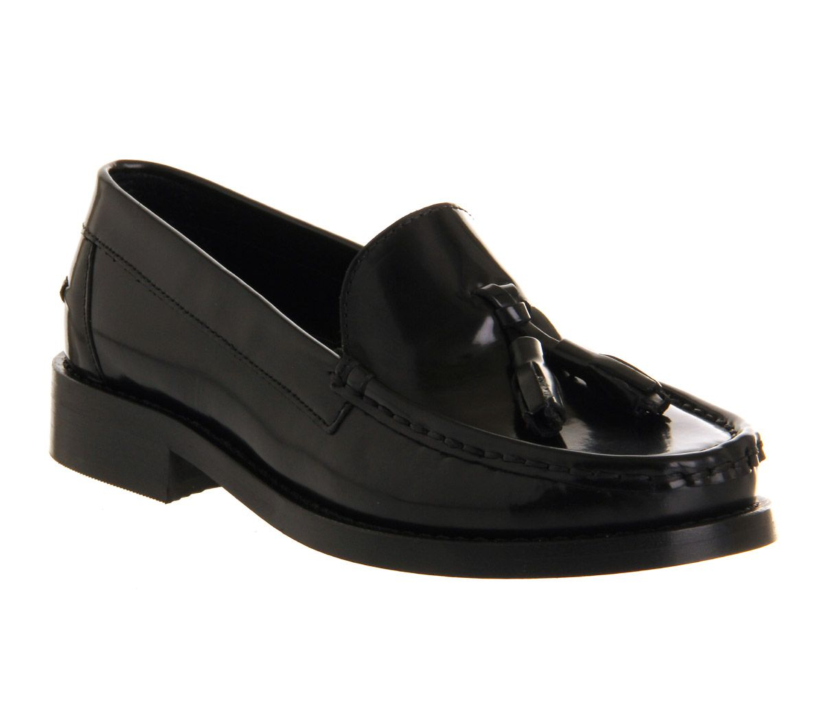 office tallulah loafer shoes in black for black