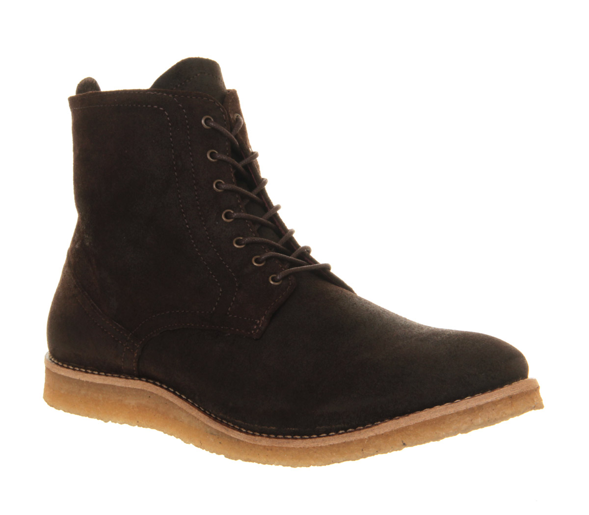 office francisco lace boot in brown for lyst