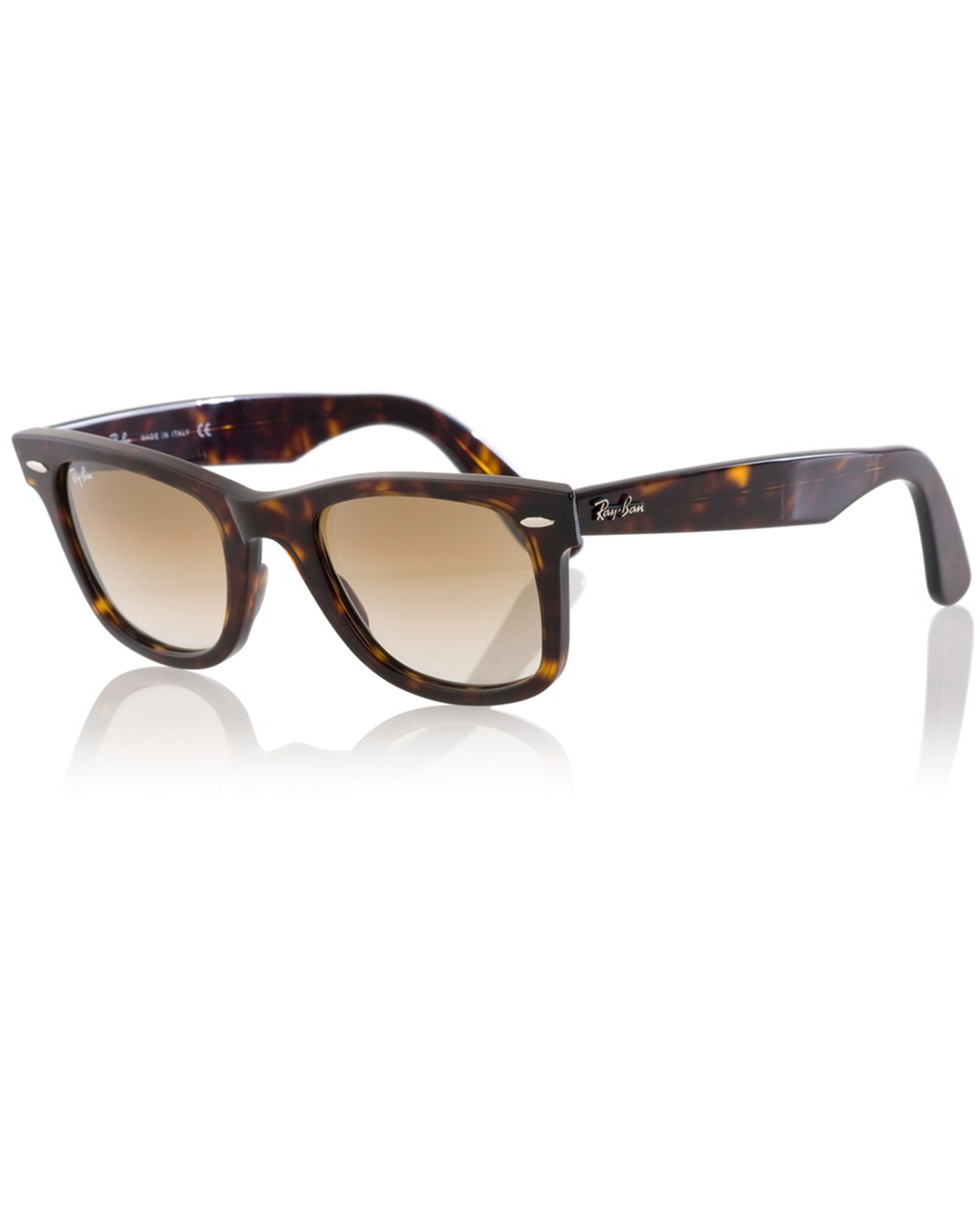 67e4205a88 ... promo code lyst ray ban wayfarer sunglasses in brown for men 587c6 37c7a