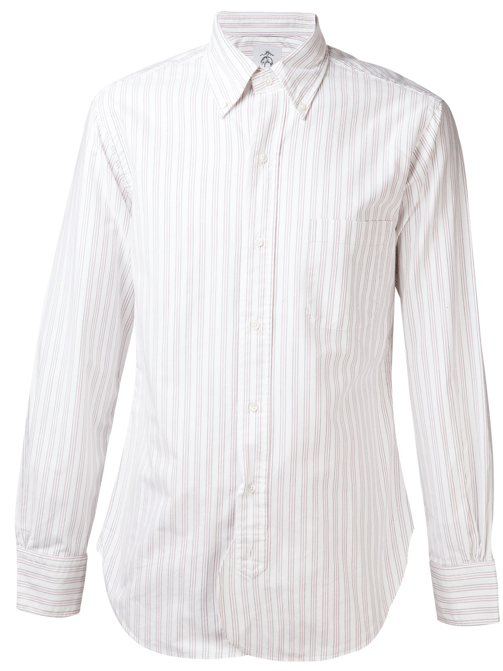 Black fleece by brooks brothers stripe pattern shirt in Brooks brothers shirt size guide