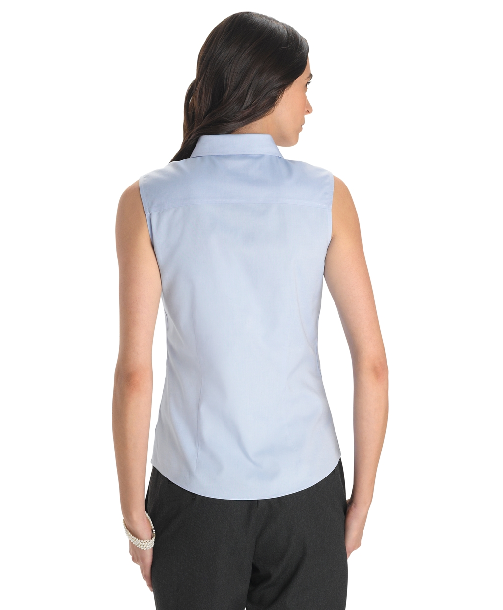 Brooks brothers petite non iron tailored fit sleeveless for Tailored fit dress shirts