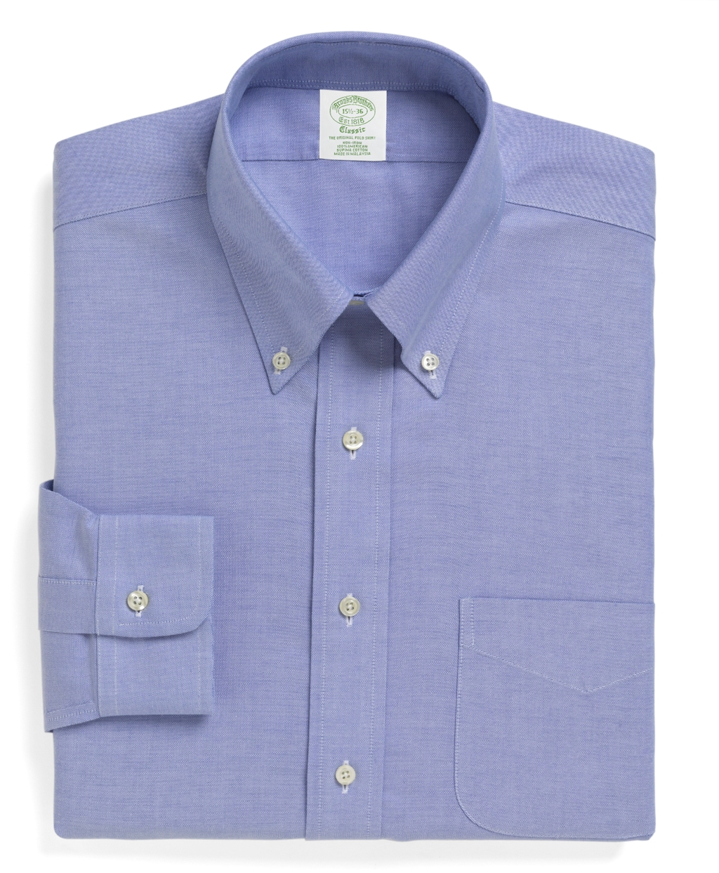 Brooks brothers non iron milano fit brookscool button for Brooks brothers non iron shirt review