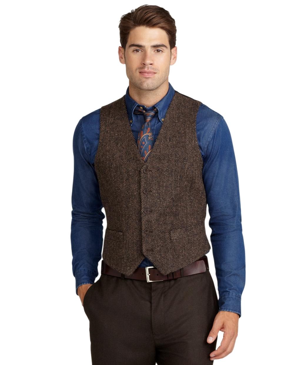 Image Gallery Herringbone Vest