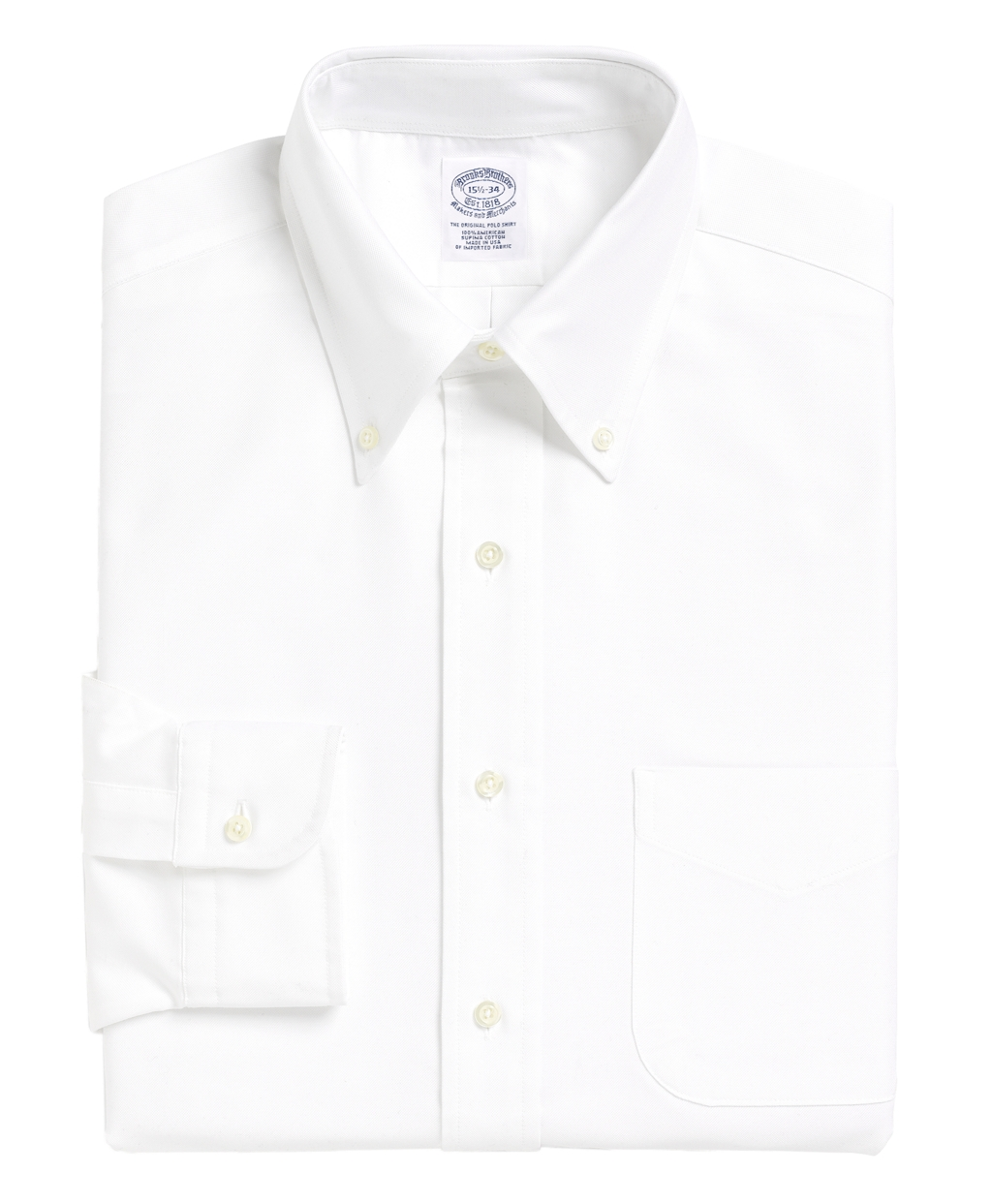 Lyst brooks brothers traditional fit button down collar for Brooks brothers dress shirt fit