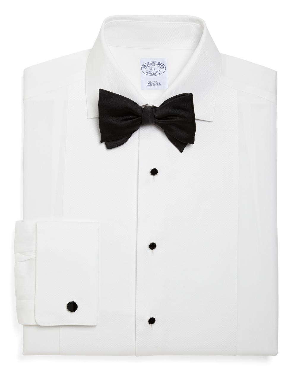 brooks brothers regent fit bib front spread collar tuxedo