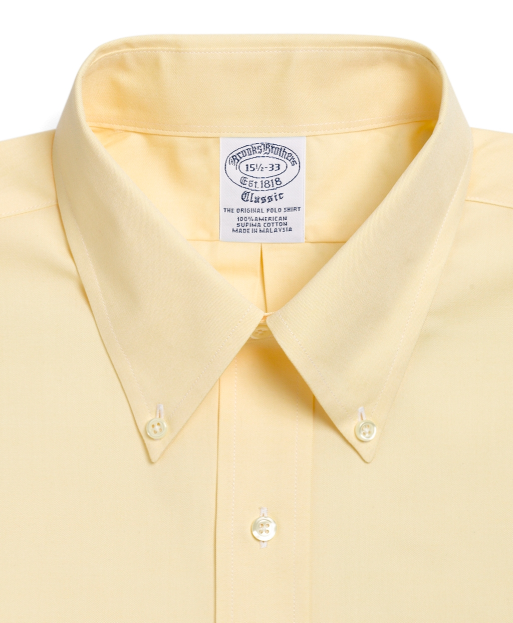 Lyst brooks brothers traditional fit button down collar for 3 button shirt collar