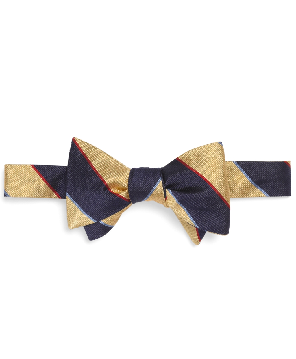 Brooks brothers Argyle Sutherland Repp Bow Tie in Yellow ...