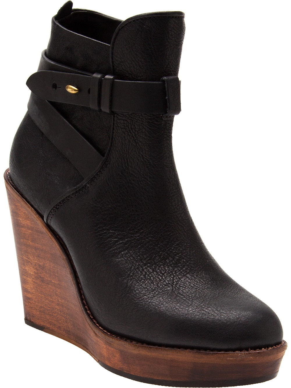 Rag Amp Bone Emery Wedge Boot In Black Lyst