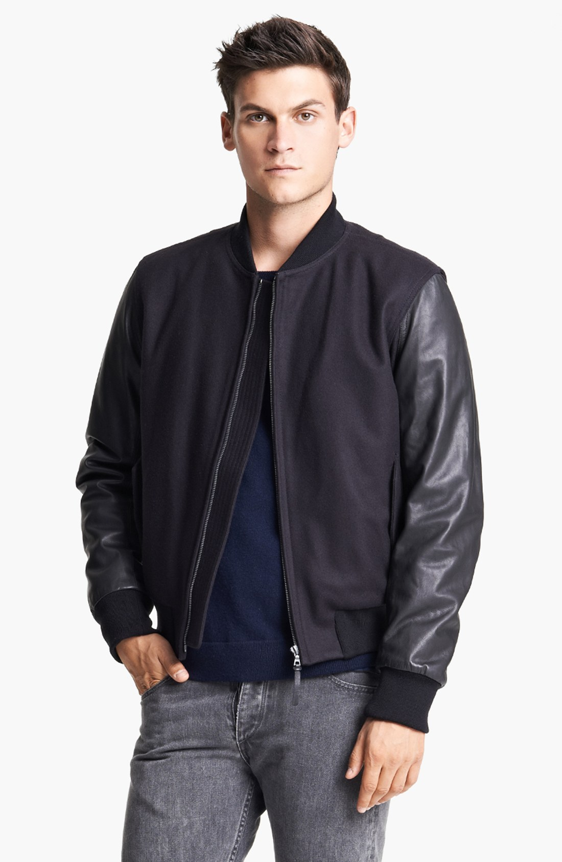 Find mens leather sleeve baseball jacket at ShopStyle. Shop the latest collection of mens leather sleeve baseball jacket from the most popular stores.