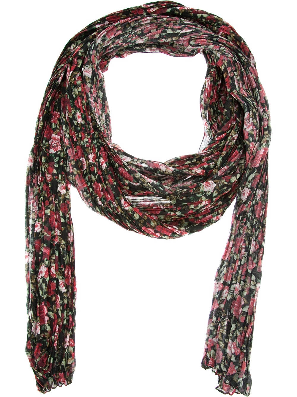 laurent floral scarf in black lyst