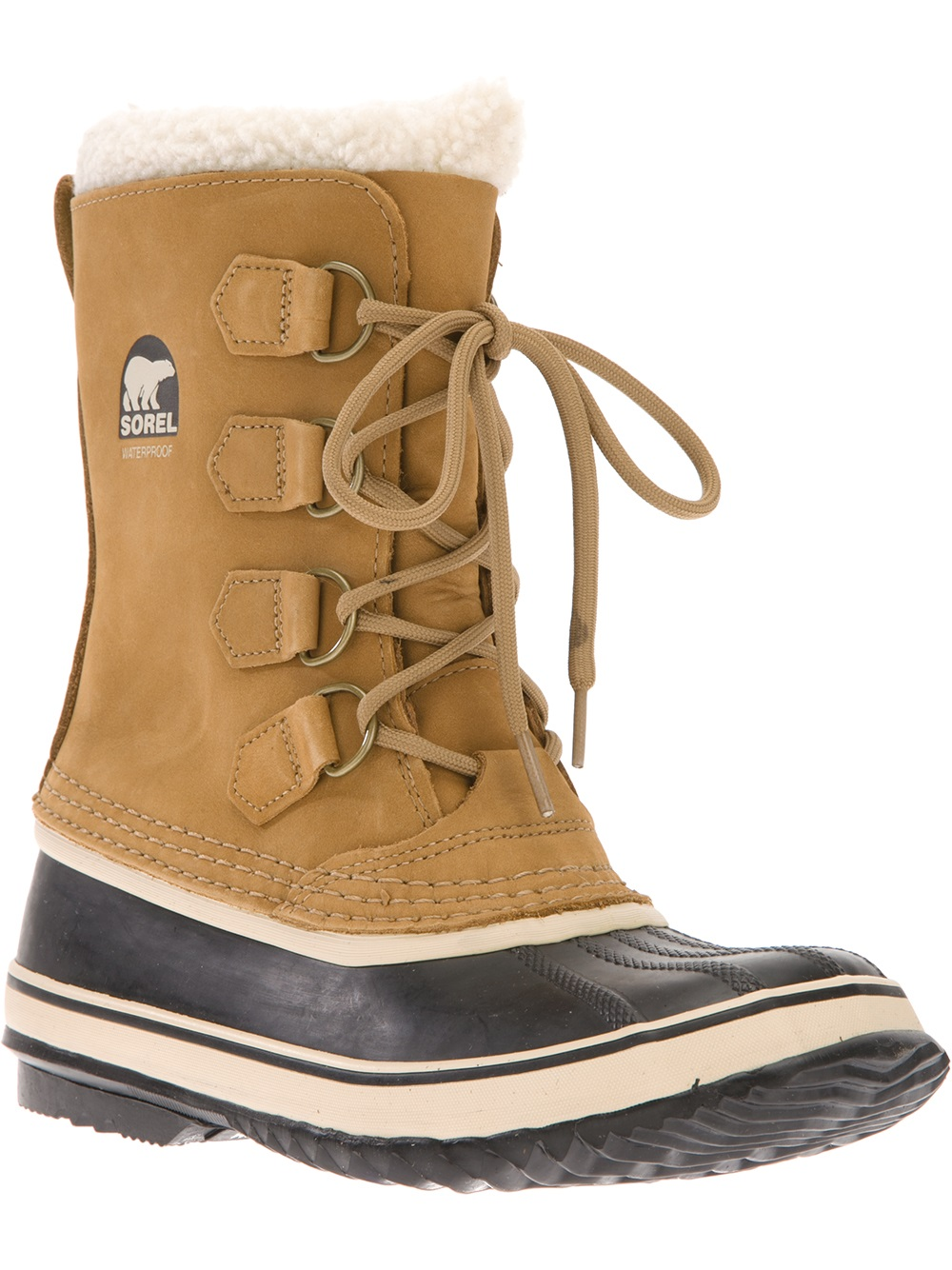 sorel pac 2 boot in brown lyst
